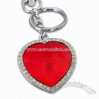 Fashionable Heart Design Metal Keyring