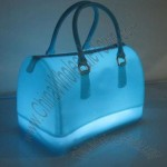Fashionable LED Lighting Jelly Handbag