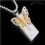 Fashionable Metal Butterfly USB Flash Drive