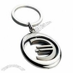 Fashionable Popular Metal Spinning Trolley Coin Keychains
