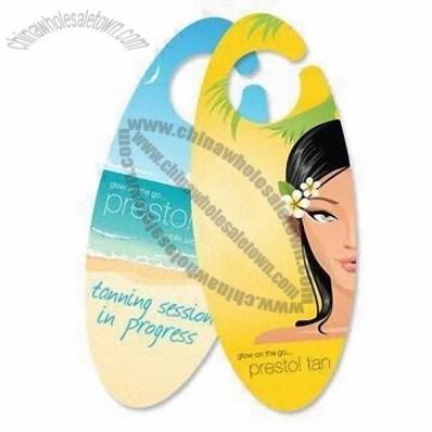 Fashionable Shape/Print Tag Door Hanger