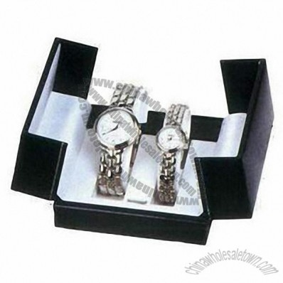 Fashionable Watch Box with Soft Velvet Lining and PU Leather Surface