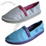 Fashionable Women's Espadrille with Rubber/PE Sole, Neon Canvas Upper
