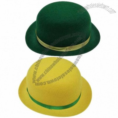 Fashionable Wool Felt Homburg Hat for World Cup Fans