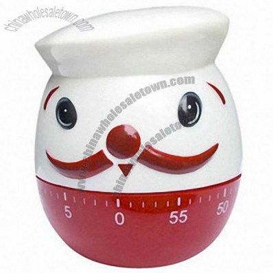 Fat Chef Shaped Kitchen Timer 60 Minute Cooking tool