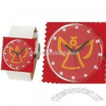Faux Leather Band Stamp Face Ladies' Fashion Watch