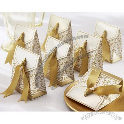 Favor Box with Gold Ribbon