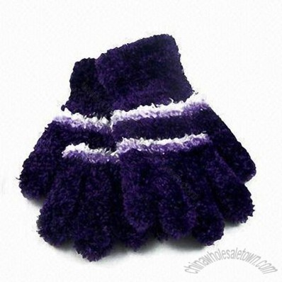 Feather Yarn Knitted Magic Winter Gloves