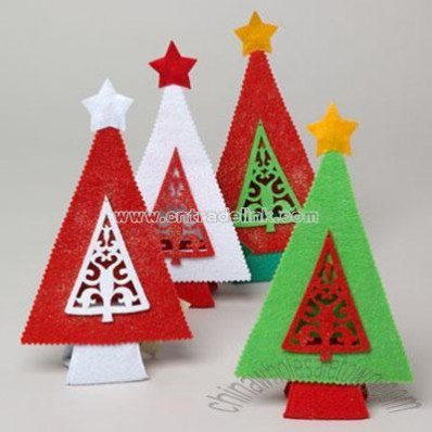 Felt Xmas Tree Decor 10.25in Wholesale