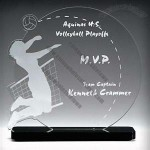 Female Volleyball Acrylic Award