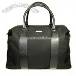 Ferragamo Nylon and Leather Black Travel Duffle