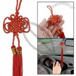 Festival Party Accent Red Tassel Chinese Knot Car Hanging Decoration 12