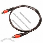 Fiber optical slink audio cable in double color and plug type