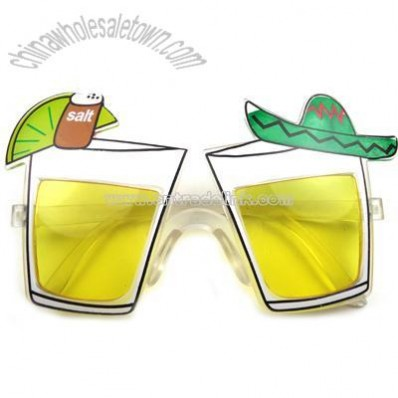 Fiesta glass shaped sunglasses