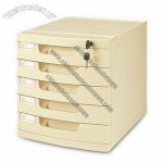 File Cabinet with Lock and Five Drawers