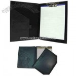 File folder with clip and notepad