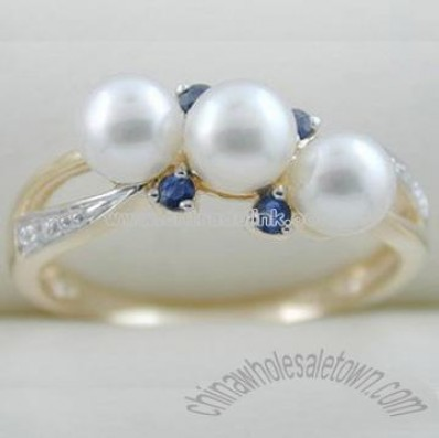 Fine Jewelry-10k Yellow Pearl Ring