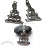 Fine Pewter Wedding Cake Charm Adornment