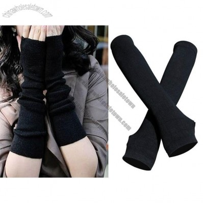 Fingerless Gloves Long Black