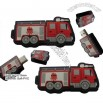 Fire Engine Shape USB Flash Drive