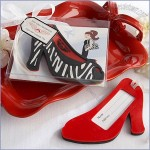 First Class Fashionista Personalized High Heel Luggage Tag Favors