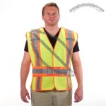 First Responder 5 Point Breakaway Reflective Safety Vest Lime