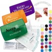 First aid kit with swab applicators and vinyl bandages