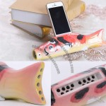 Fish Shaped Ceramic Speaker Sound Amplifier Stand Dock for Cell Phone