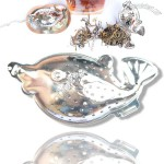 Fish Shaped Tea Infuser with Chain and Dish