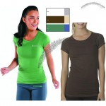 Fitted Bamboo Logo T-Shirt for Women's