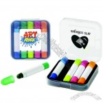 Five-Color Gel-Wax Crayon Highlighter Set in Case
