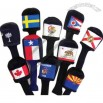 Flag head cover for golf club.