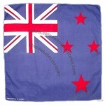 Flag of New Zealand Bandana Handkerchief Headwrap Head Wrap Biker