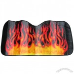 Flame Plastic Bubble Plated with Film Car Sunshade