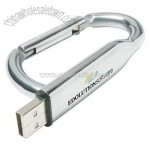 Flash Drive with Convenient Carabiner Clip