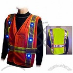 Flashing LED Class 2 Safety Vest