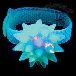 Flashing LED jelly bracelet