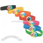 Flashing bracelet with durable silicone band