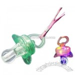 Flashing whistle pacifier