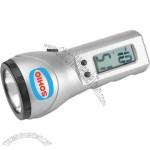 Flashlight with LCD alarm / time display