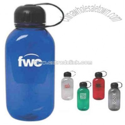 Flat sided 28 oz. polycarbonate water bottle