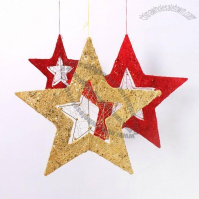 Flaxen and Iron Christmas Star Pendant