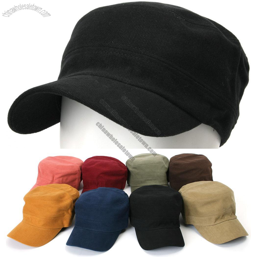 Flex-fit Cotton Solid Color Military Cadet Cap Suppliers, China Flex
