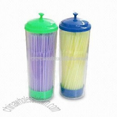 Flexible Drinking Straws with Cylindrical PVC Packaging