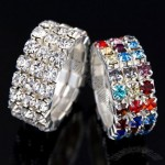 Flexible Fashion Ring with Rhinestone