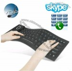 Flexible Keyboard with Skype Internet Phone Spearker