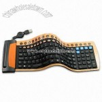 Flexible Office Keyboard with Detachable USB Cable