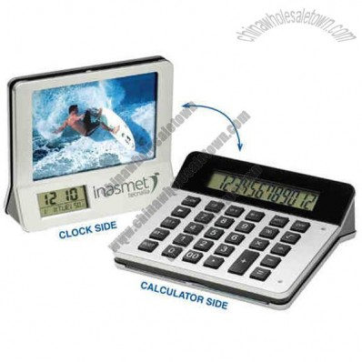 Flip Calculator Clock Frame with timer and alarm