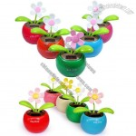 Flip Flap Solar Powered Dancing Flower Car Decoration Flowerpot