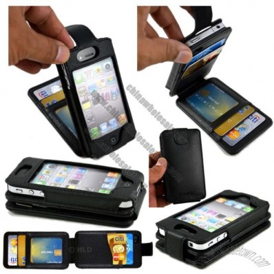 Flip Wallet Card Leather Case for iPhone 4/4s